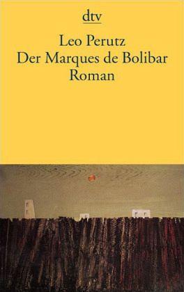 Der Marques De Bolibar Von Leo Perutz Als Taschenbuch Portofrei