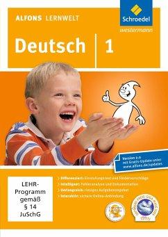 1. Schuljahr, DVD-ROM / Alfons Lernwelt, Deutsch