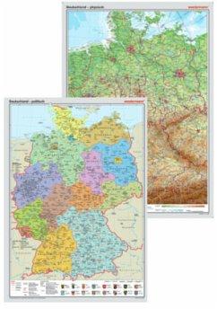 Westermann Deutschland, physisch, Posterkarte; ...