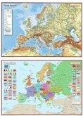 Westermann Europa, politisch, Posterkarte; Europa, physisch, 2 Tle.