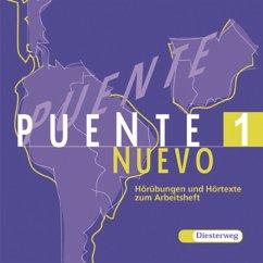Hörübungen und Hörtexte zum Arbeitsheft, 1 Audio-CD / Puente Nuevo Bd.1
