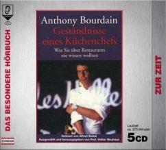Geständnisse eines Küchenchefs, 5 Audio-CDs - Bourdain, Anthony