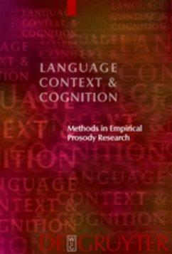 Methods in Empirical Prosody Research - Sudhoff, Stefan / Lenertová, Denisa / Meyer, Roland / Pappert, Sandra / Augurzky, Petra / Mleinek, Ina / Richter, Nicole / Schließer, Johannes (eds.)