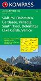 Kompass Karte Südtirol, Dolomiten, Gardasee, Venedig; South Tyrol, Dolomites, Lake Garda, Venice, Alto Adige, Dolomiti,