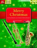 Merry Christmas, Für Trompete / B-Klarinette / Tenorsax, m. 2 Audio-CDs