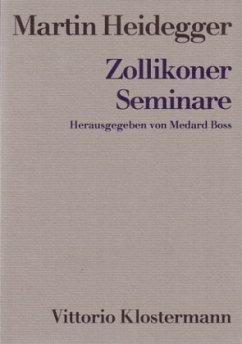 Zollikoner Seminare - Heidegger, Martin