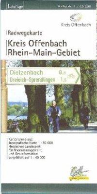 Kreis Offenbach Radwegekarte 1 : 40 000