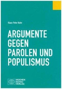 Argumente am Stammtisch - Hufer, Klaus-Peter
