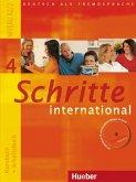 Schritte international 4. Kursbuch + Arbeitsbuch mit Audio-CD zum Arbeitsbuch und interaktiven Übungen