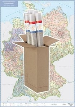 Busche Map Postleitzahlenkarte Deutschland, Pla...