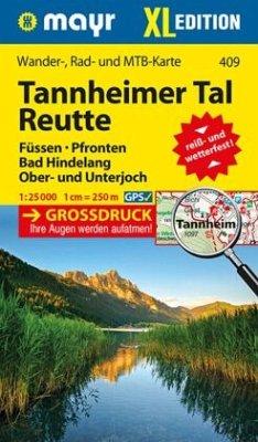 Mayr Karte Tannheimer Tal, Reutte