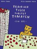 Trauriger Tiger toastet Tomaten