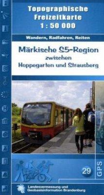 Topographische Freizeitkarte Brandenburg Märkis...