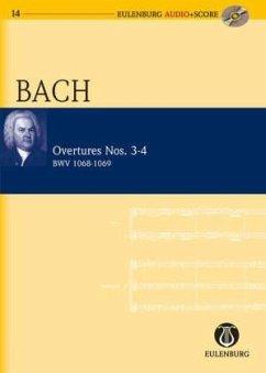 Ouvertüre (Suite) Nr.3 D-Dur BWV 1068 und Nr.4 D-Dur BWV 1069, Studienpartitur u. Audio-CD - Bach, Johann Sebastian