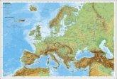Stiefel Wandkarte Kleinformat Europa, physisch, ohne Metallstäbe