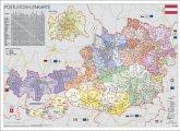 Stiefel Wandkarte Kleinformat Österreich, Postleitzahlen, ohne Metallstäbe