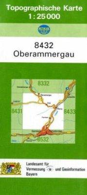 Topographische Karte Bayern Oberammergau