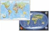 Stiefel Welt politisch mit Flaggenrand, englische Ausgabe; Stiefel Erde Panorama, DUO-Schreibunterlage