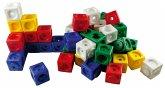 Steckwürfel, allseitig steckbar, zur Demonstration / Mathematik mit Steckwürfeln