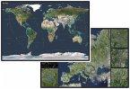 Stiefel Die Erde; Stiefel Satellitenbild Europa, DUO-Schreibunterlage