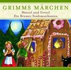 Hänsel und Gretel / Die Bremer Stadtmusikanten, 1 Audio-CD / Grimms Märchen, Audio-CDs
