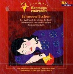 Schneewittchen, 1 Audio-CD / Ki.Ka Sonntagsmärchen, Audio-CDs - Grimm, Jacob; Grimm, Wilhelm