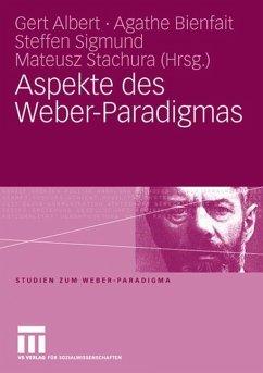 Aspekte des Weber-Paradigmas - Albert, Gert / Bienfait, Agathe / Sigmund, Steffen / Stachura, Mateusz (Hgg.)