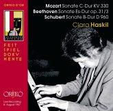 Klaviersonaten Kv 330/Op.31,3/D 960