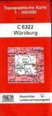Topographische Karte Bayern Würzburg
