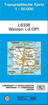 Landesamt Für Digitalisierung, Vermessung Bayern Topographische Karte Bayern Weiden i. d. OPf.