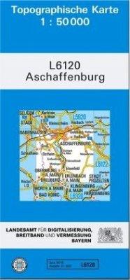 Topographische Karte Bayern Aschaffenburg
