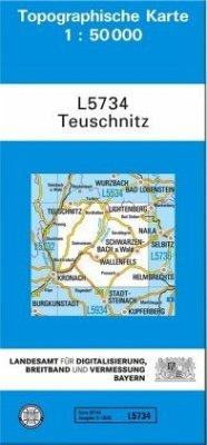 Topographische Karte Bayern Teuschnitz