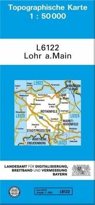 Topographische Karte Bayern.Topographische Karte Bayern Lohr A Main