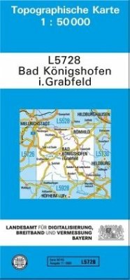 Topographische Karte Bayern Bad Königshofen i. Grabfeld