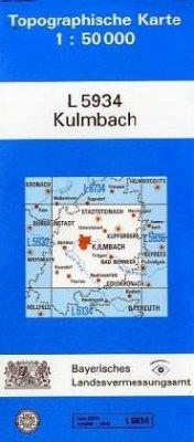 Topographische Karte Bayern Kulmbach