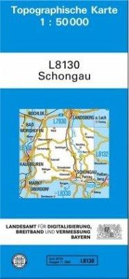 Topographische Karte Bayern Schongau