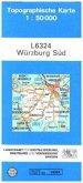 Topographische Karte Bayern Würzburg Süd