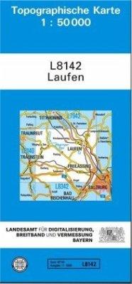 Topographische Karte Bayern Laufen