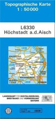 Topographische Karte Bayern Höchstadt a. d. Aisch
