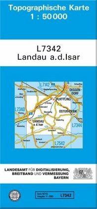 Topographische Karte Bayern Landau A D Isar Landkarten