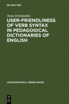 User-friendliness of verb syntax in pedagogical dictionaries of English