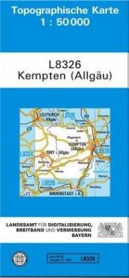 Topographische Karte Bayern Kempten (Allgäu)