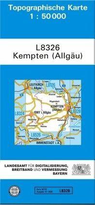 Topographische Karte Bayern Kempten Allgau Landkarten