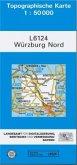 Topographische Karte Bayern Würzburg Nord