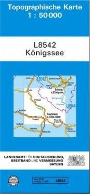 Topographische Karte Bayern Königssee