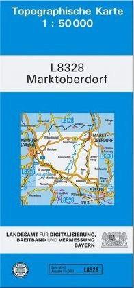 Topographische Karte Bayern.Topographische Karte Bayern Marktoberdorf
