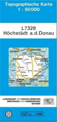 Landesamt Für Digitalisierung, Vermessung Bayern Topographische Karte Bayern Höchstädt a. d. Donau