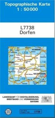 Topographische Karte Bayern Dorfen