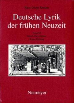 Barock-Humanismus: Krisen-Dichtung - Kemper, Hans-Georg Kemper, Hans-Georg