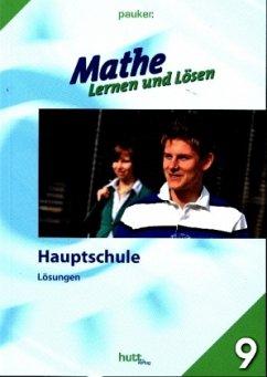 Mathe - Lernen und Lösen, Hauptschule Klasse 9, Lösungen